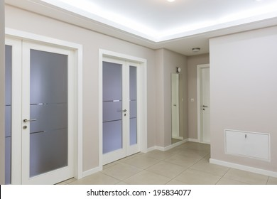 Interior of empty apartment entrance