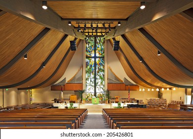 Interior of an empty church