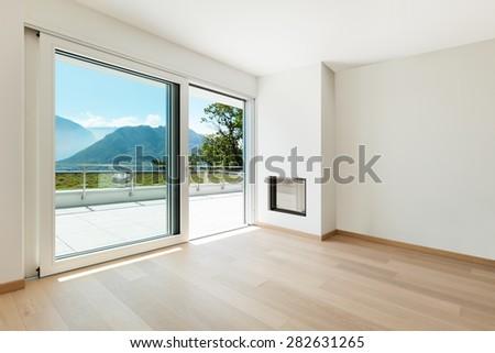 wonderful empty apartment living room | Interior Empty Living Room Modern Apartment Stock Photo ...
