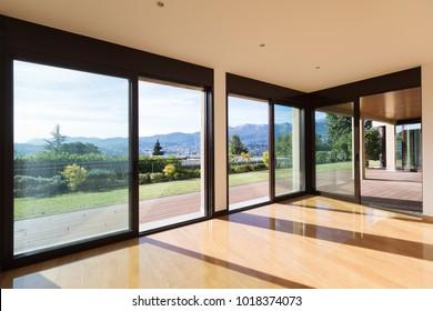 Interior of empty modern apartement