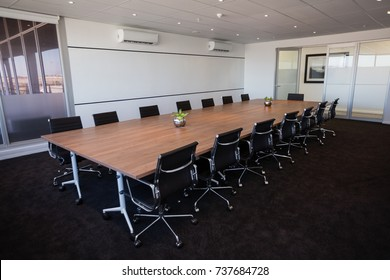 Interior of empty modern board room at creative office