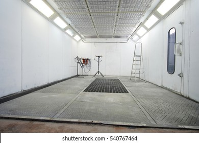 Interior of an empty painting camera