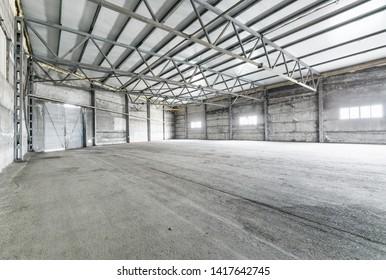 Interior of empty warehouse  or garage