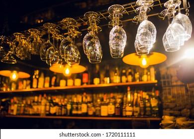 the interior of establishments, restaurants, hotels