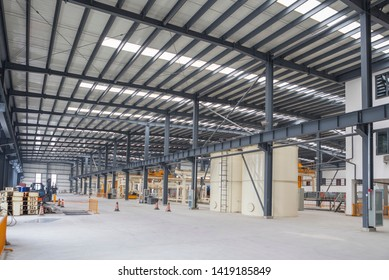 The interior of a factory floor