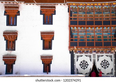 Interior of famous Tibetan Buddhist Monastery, Hemis Monastery. Filled with colours, the monastery is an ideal place to experience culture and religion. The monastery is a Ladakh heritage.