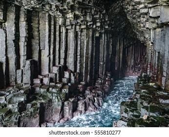 Interior of Fingal's Cave, Isle of Staffa, Scotland