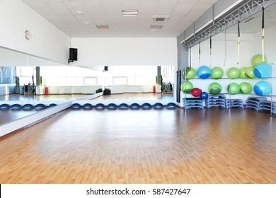 Interior of fitness club
