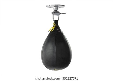 Interior of a fitness hall with punching bag