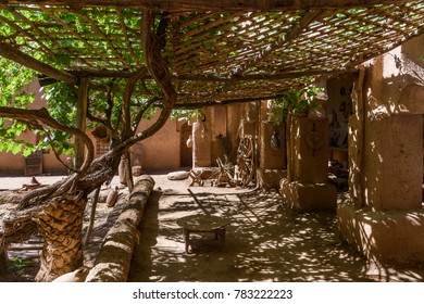 The interior garden of Kasbah Amridil in Skoura oasis, Morocco