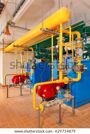 Interior Gas Boiler House Industrial Boilers Stock Photo (Edit Now ...