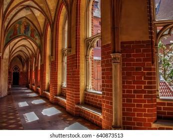 Interior of gothic castle in Malbork, Poland