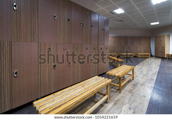Incredible Interior Gym Locker Room Luxury Clean Stock Photo Edit Now Ncnpc Chair Design For Home Ncnpcorg