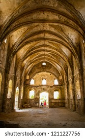 Interior of the High Church in Kayakoy (Karmylassos) from 17th Century Fethiye, Turkey on October 19 2011.