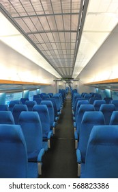 Interior of the high speed, Mag lev train in Shanghai, China.