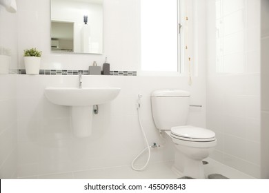 Interior of a home bathroom