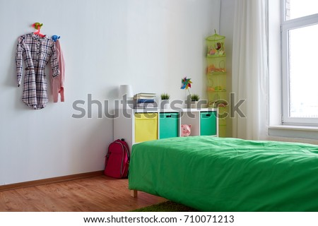 Interior Home Furnishing Concept Kids Room Stock Photo Edit Now Adorable Bedroom Furniture Accessories Concept