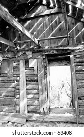 Interior of home in Ghost town
