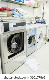 Interior of a hospital laundry