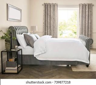 Interior of a hotel bedroom. Bedroom interior design