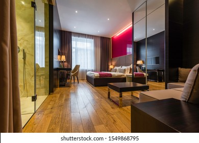 Interior of a hotel bedroom - Image