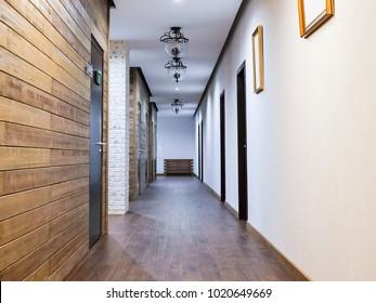 Interior of a hotel corridor