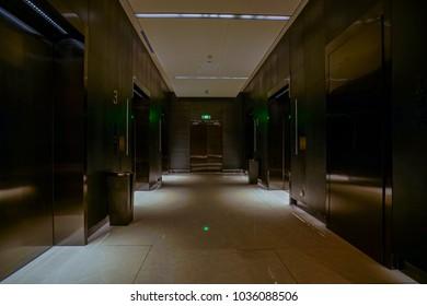 Amazing Interior Of Hotel Corridor