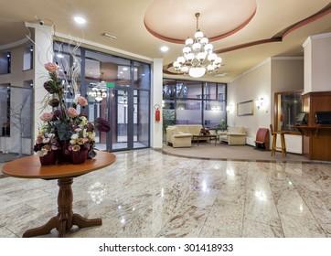 Interior of a hotel - entrance area