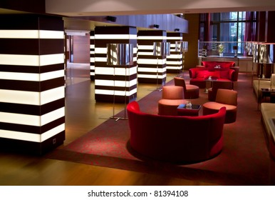 interior of hotel hall