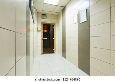 Interior of a hotel spa center