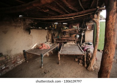 Interior Of A House In A Village In Sindh, Pakistan 27/08/2017