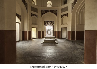 Interior of Humayun's Tomb in Delhi, India.