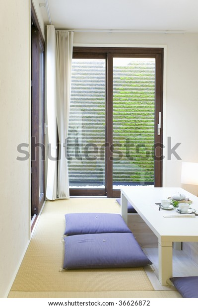 Interior Image Japanese Style Living Room Stock Photo (Edit ...