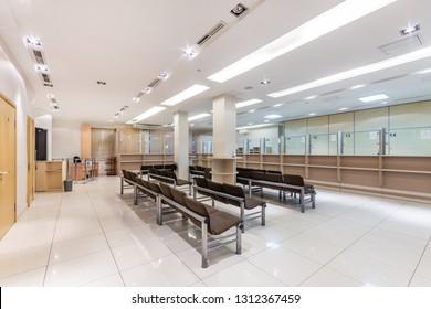 Interior of immigration office. Visa application center