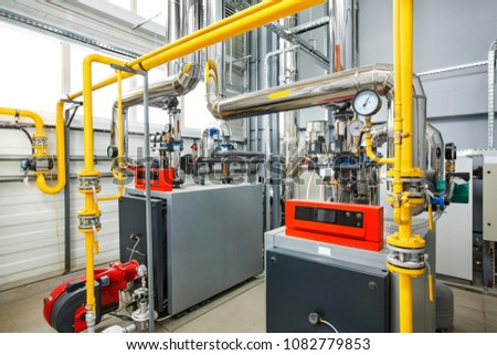 Interior Industrial Boiler House Multitude Pipes Stock Photo (Edit ...