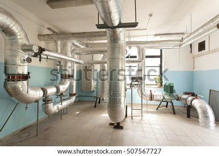Interior Industrial Gas Boiler Piping Pumps Stock Photo (Edit Now ...