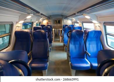 Interior of an intercity train.