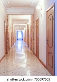 Interior iof a hotel corridor