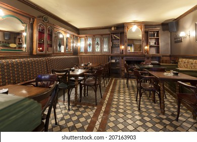 Interior of a Irish pub
