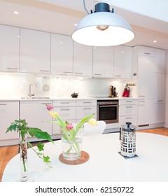 interior of a kitchen