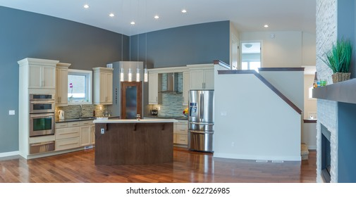 Interior kitchen design in a new house
