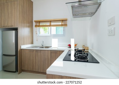 Interior kitchen with electric