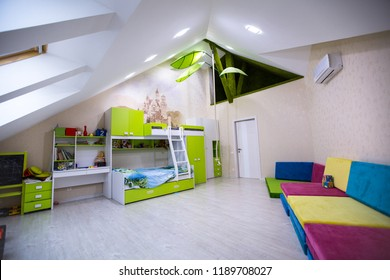 interior of a large children's room