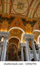 Interior of Library of Congress, Washington DC, United States of America