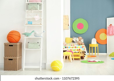 Interior of light cozy children's room