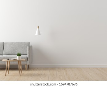 Interior of living, modern mock up scene with empty space for text
