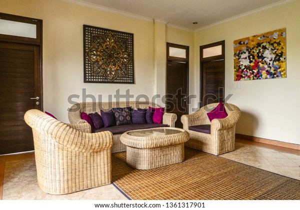 Interior Living Room House Rent Traditional Stock Photo