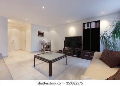 Interior, living room of a modern apartment