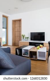 Interior of living room in modern house