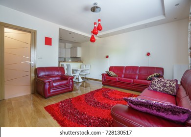 Interior of a living room in a private apartment